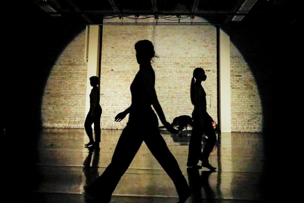 Begin Again Photo by Leif Norman Choreography Jera Wolfe Dancers Mark Dela Cruz Allison Brooks Kira Hofmann Carol Ann Bohrn Lighting Hugh Conacher